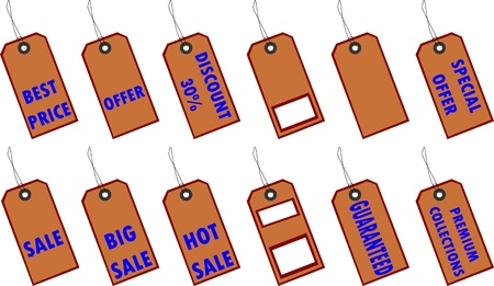 Price Tags Stock Vector - 15756833