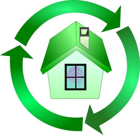 녹색 House_Ecology 로그인 일러스트