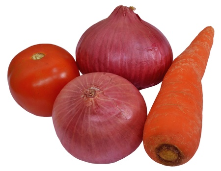 Vegetables - Onion, Carrot, tomato