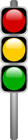 Traffic Signal Lights Illustration