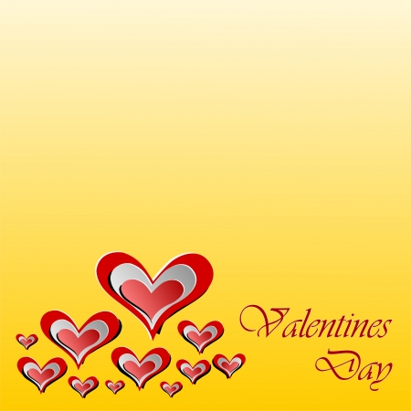 Velentines Day Greeting Card Illustration