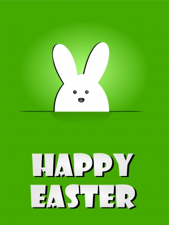 Happy Easter Greeting Card with Rabbit Bunny Background