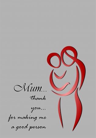 motherhood': Mothers day greeting card