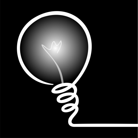 Vector Illustration of IDEA with light bulb