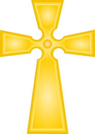 Golden Cross - Vector Illustration