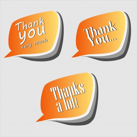 Thank you - grateful speech bubbles Illustration