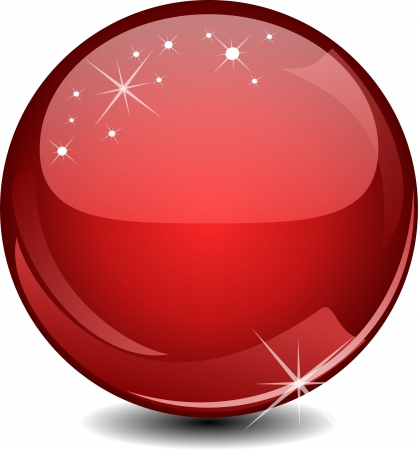 Red glossy sphere Illustration