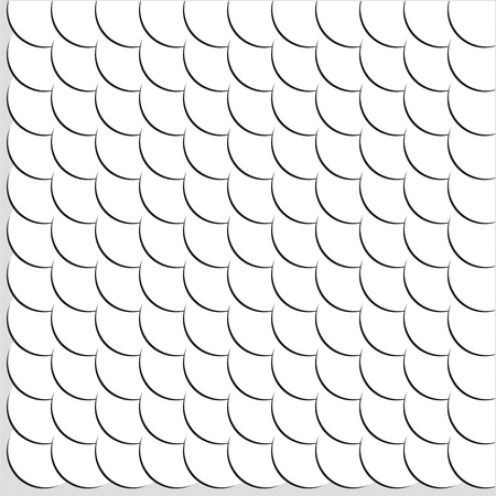 Seamless Pattern of White Circles Illustration