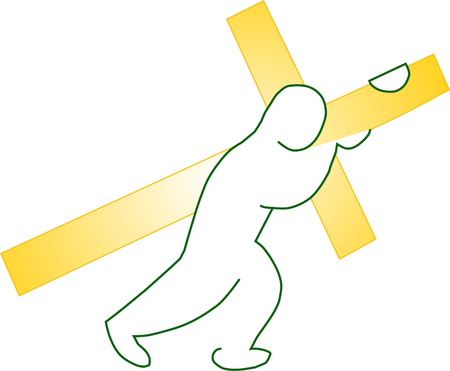 Jesus Carrying Golden Cross