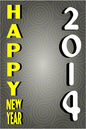 행복 한 새 해 2014 인사말 카드 디자인