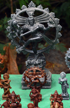 Hindu Gods - Sculptures in a shop Stock Photo