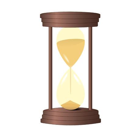 Hourglass old vintage. Grafic image.