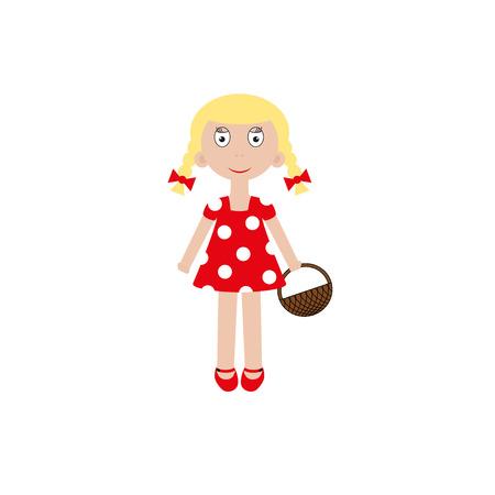 young girl: Vector smiling girl illustration. Portrait young girl. Vector illustration