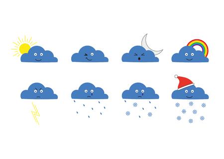 clouds: cartoon clouds.