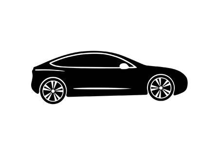 Elektrische moderne auto vectorillustratie