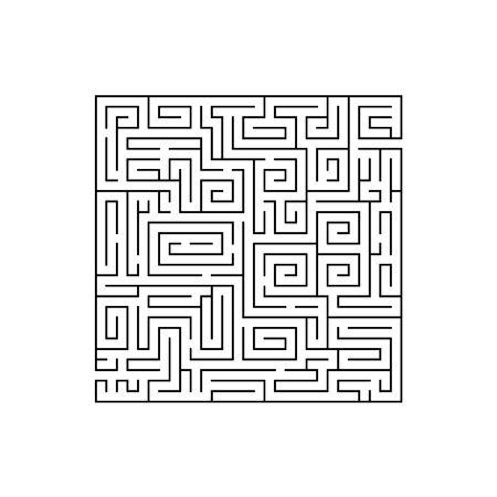 Doolhof of labyrint Vector vlakke afbeelding