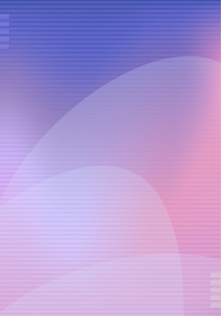 Trendy background template pink, blue and violet shapes and lines. Vector modern poster, banner, presentation layout, minimal style corporate identity Ilustração