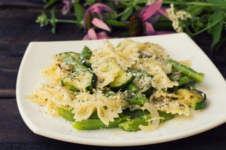 Pasta Primavera - hearty and healthy dishes from South Italy.