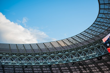 The roof of the Luzhniki Stadium, during the semi-final match of the FIFA World Cup 2018 between Croatia and England.