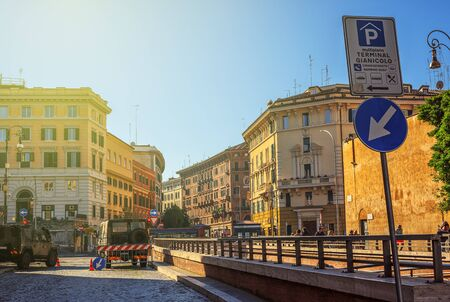 ROME, ITALY, on November 11, 2018. Old street. Architecture and landmark of Rome.