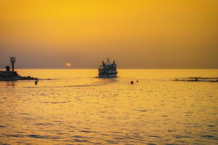 Evening Jaffa old port at sunset of the day. Tel Aviv Yafo Israel. Фото со стока - 123040338