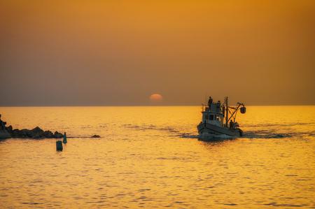 Evening Jaffa old port at sunset of the day. Tel Aviv Yafo Israel Фото со стока - 123029895