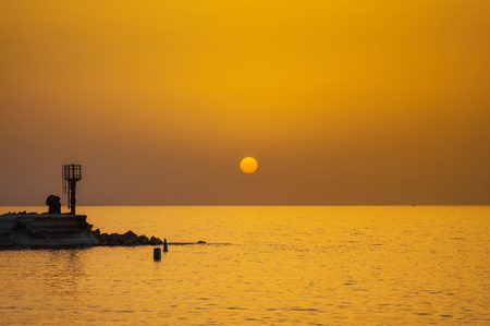 Evening Jaffa old port at sunset of the day. Tel Aviv Yafo Israel