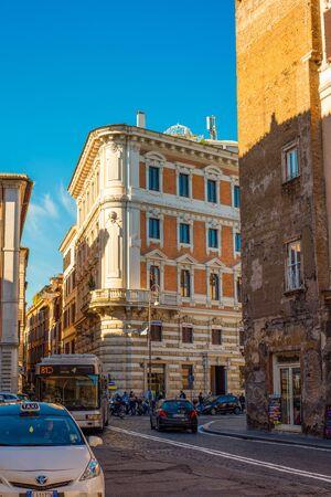 Rome, Italy - November 11, 2018: Laundry in Trastevere district of Rome, Italy Редакционное