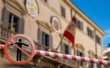 Coronavirus in Madrid, Spain. Spain Coronavirus COVID-19 world outbreak concept. Фото со стока