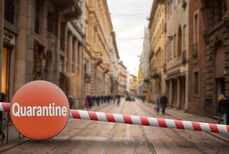 Coronavirus in Milan, Italy. Italy Coronavirus COVID-19 world outbreak concept.