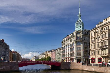 St. Petersburg Russia. Historical buildings along Moyka River