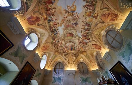Prague Czech Republic. Strahov monastery Stock Photo