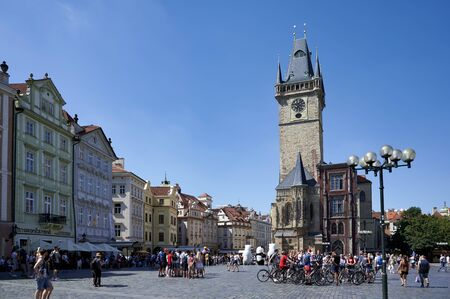 Prague Czech Republic. The Old Town Hall in Old Town Square