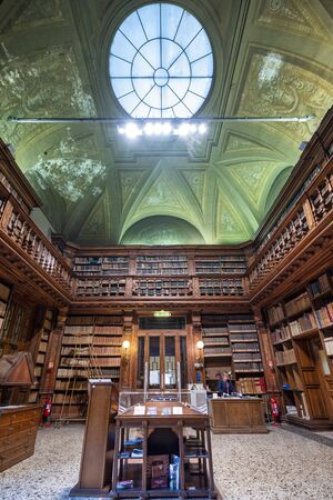 Milan Italy. The Braidense National Library in Brera Stock Photo