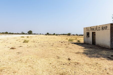 Namibia, Africa. An abandoned bar in the desert
