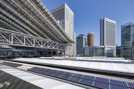 Osaka Japan. The railway station 스톡 콘텐츠