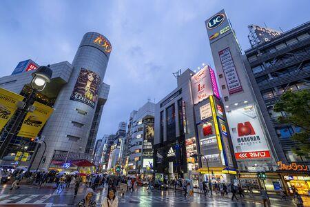 Tokyo Japan. Shibuya neighborood at dusk