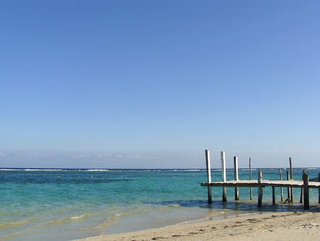 Pier in the Mexican Caribbean photo
