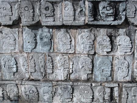 Ancient Mayan Rituals- Skulls of the Sacrificed          photo