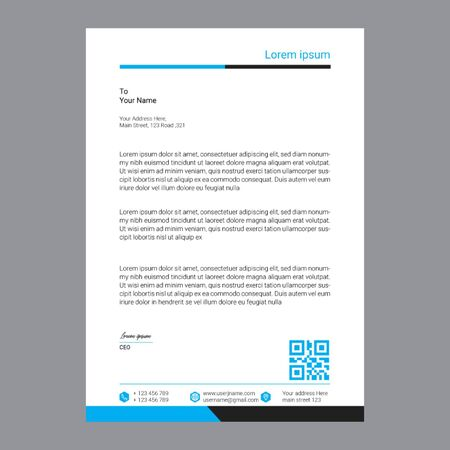 Corporate Company Letterhead Zdjęcie Seryjne - 137036396
