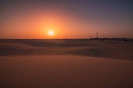 Beautiful Sunrise in Dammam Saudi Arabia Desert