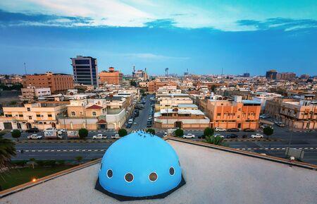 Amplio ángulo de visión de Dammam Street -Dammam Arabia Saudita. Foto de archivo