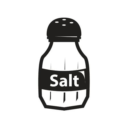 zoute schudbeker die op witte achtergrond wordt geïsoleerd.