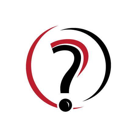 modern question mark , icon design, isolated on white background.