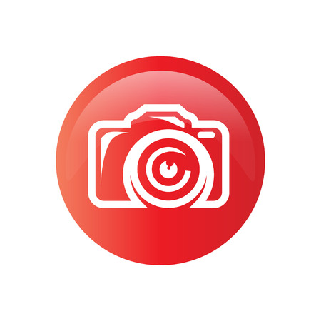 bold cemera icon within a circle, icon design, isolated on white background.