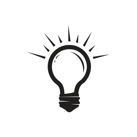 simple light bulb illustration, icon design, isolated on white background. Illustration