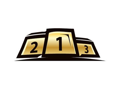 elegant, winners platform 1,2,3, icon design, isolated on white background.