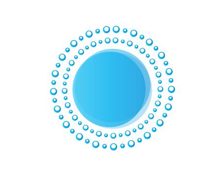 青い泡は、白の背景に孤立し、円、アイコンのデザインを形成します。  イラスト・ベクター素材