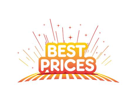 Best prices with stars illustration. Illustration