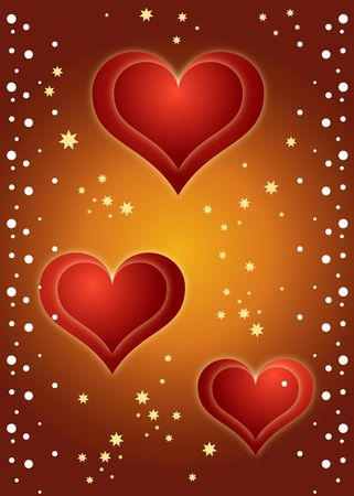 Hearts Background ! Stock Photo - 760601